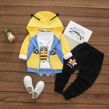 childrens clothes new girls autumn 1-4 years old children fashion boys and three pieces
