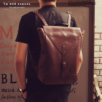 Fashion Mens Backpack PU Leather Women Business Bag High Quality Male Travel Backpack School Large Laptop Shopping Travel Bag men backpack business oxford laptop bag large capacity male travel bag high quality women student school backpacks for teenager