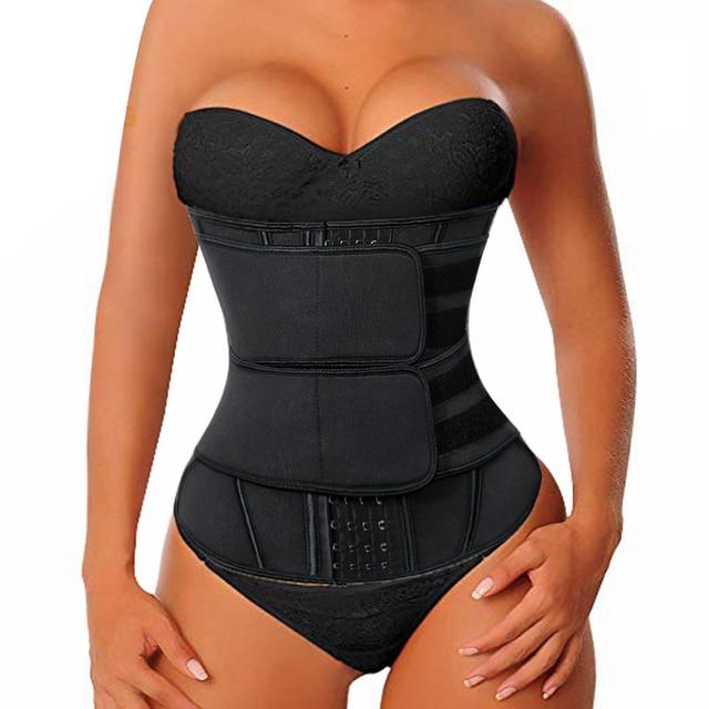 Cinta modeladora afinador de silhueta, corset feminino sauna modeladora