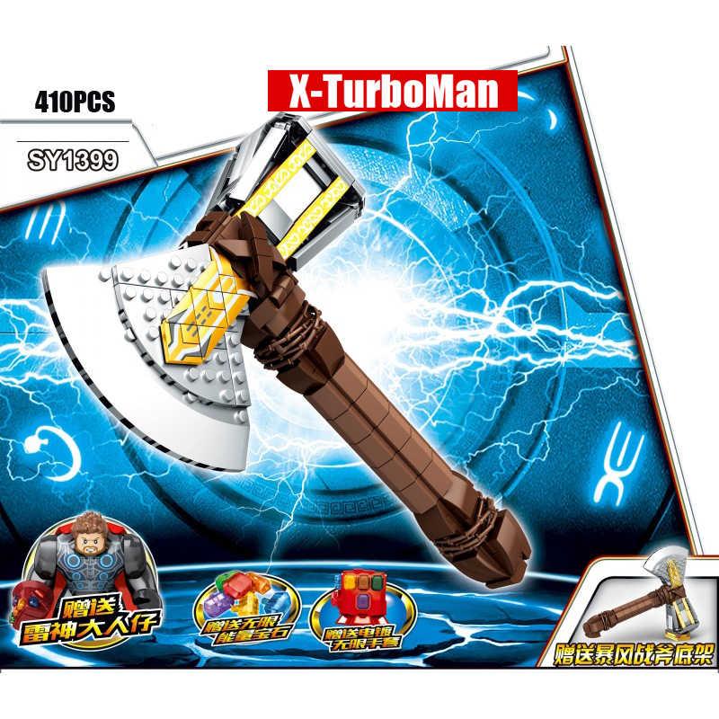 Hot avenger super heroes Stormbreaker modello building block ENDGAME thor figures ferro Infinity Gauntlet gemme di pietra mattoni giocattoli