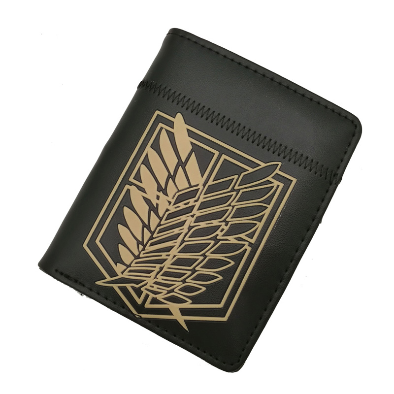 Anime Attack On Titan Wing Of Liberty Zipper Purse More Than 10 Types Creative Black Wallets To Choose For Collection Or Cosplay