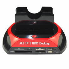 New Hard Disk Dock All In One IDE SATA 2.5 Inch 3.5 Inch Dual Hard Drive HDD Docking Station Dock USB HUB Card Reader