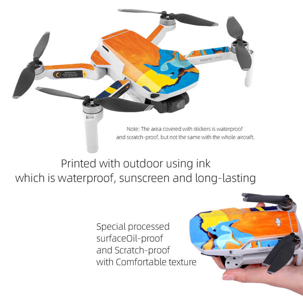 Drohne K?rper wasserdichte Haut Aufkleber Schutz Aufkleber für Mavic Mini ED
