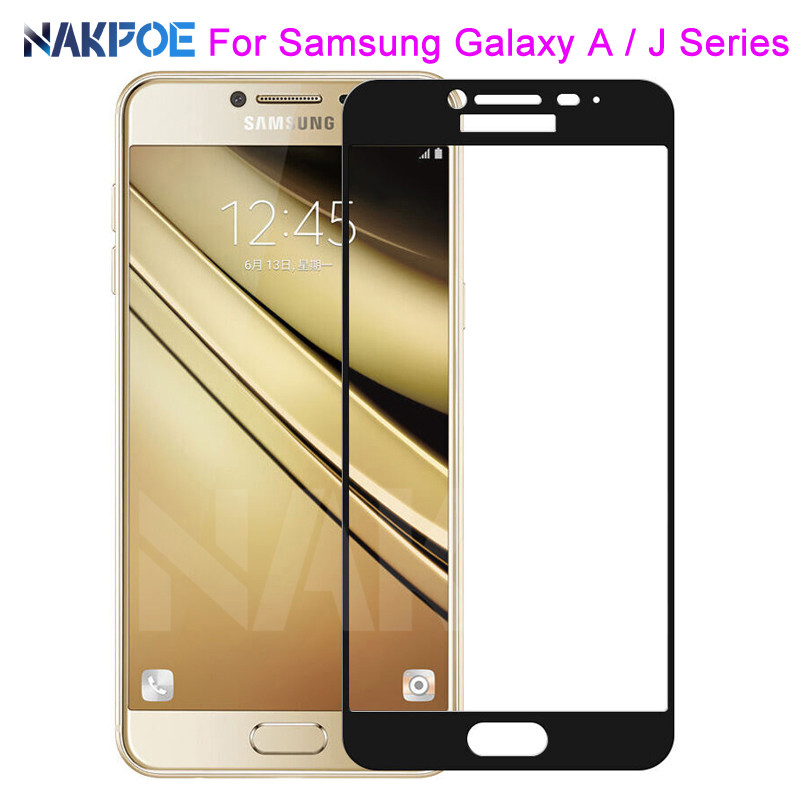9D Protective Glass On The For Samsung Galaxy J3 J5 J7 Samsung A3 A5 A7 2016 2017 S7 Tempered Screen Protector Glass Film Case
