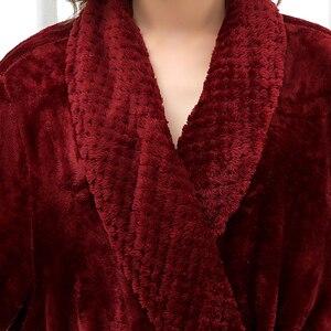 Image 3 - Халат женский фланелевый, очень длинный мягкий и Шелковый банный халат, теплый Свадебный халат для невесты, кимоно, халат для подружки невесты