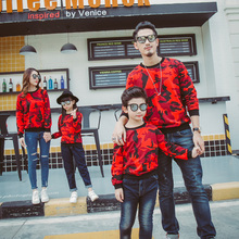 Autumn mommy and me christmas sweaters family look daddy and father and son daughter clothes big brother little sister matching my daddy and me