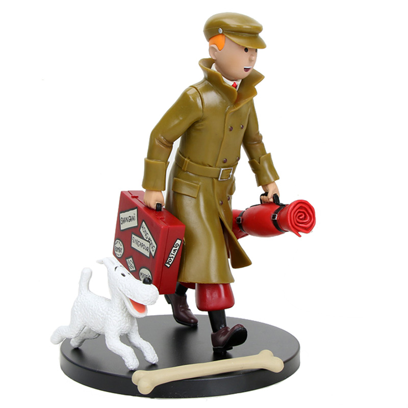 2 Styles The Adventures Of Tintin Tintin And Milou Figurine PVC Statue Action Figure Collectible Model Toy