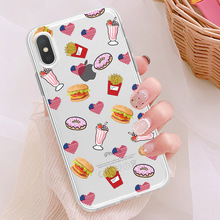 Clear TPU Cover Phone Case For iPhone X  7 8 6s 6 Plus XS Max 10 Gay Lesbian LGBT Rainbow Flag Pride ART Colorful Cut
