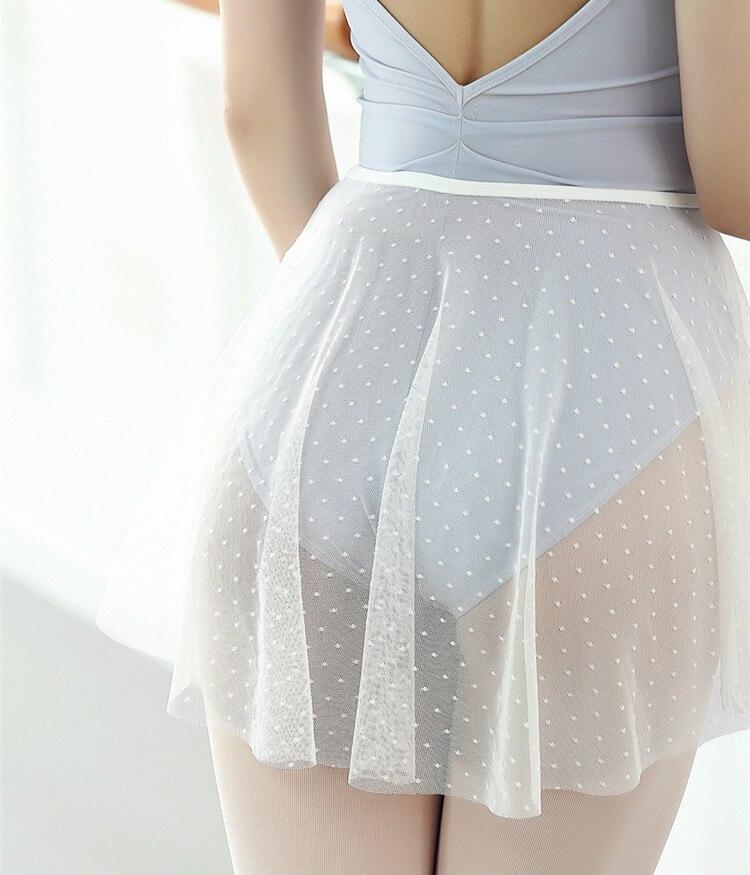 Ballet Dance Skirt Adult Chiffon White Dot Practice Leotard Dance Dress Women Ballet Dancing Dress Ballerina Skirts Skirts-women