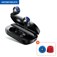 ANOMOIBUDS Wireless Charging Case TWS Bluetooth Earbuds Bluetooth Headphones  Deep Bass Sports Wireless Binaural Earphone