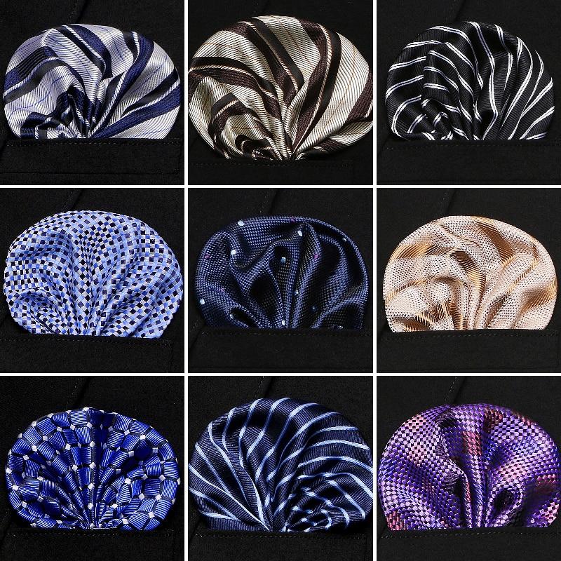 Fashion  Men's 100% Silk Handkerchief Paisley Floral Jacquard Men Pocket Square Towel For Business Wedding Party