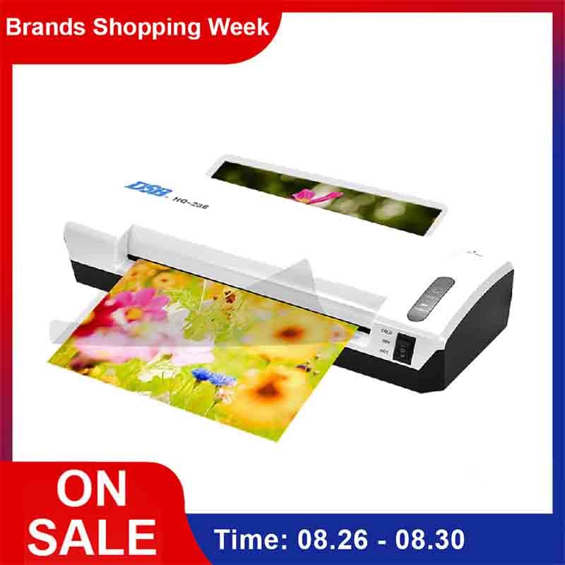 A4 Photo plastifieuse chaud froid plastifieuse vitesse rapide Film plastifiadora Machine à plastifier W/libre bureau à domicile Cutter