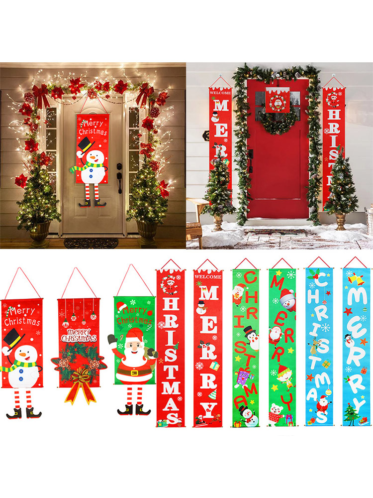 Banner Navidad Decorative-Door Hanging Xmas-Ornaments Porch-Sign Merry-Christmas Home