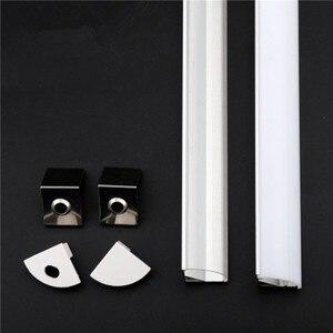 Image 2 - Profilé en aluminium pour bande led, 10 20 pièces, DHL1m, pcb 10mm, 5050, 5630, boîtier en aluminium, canal avec couvercle et clips