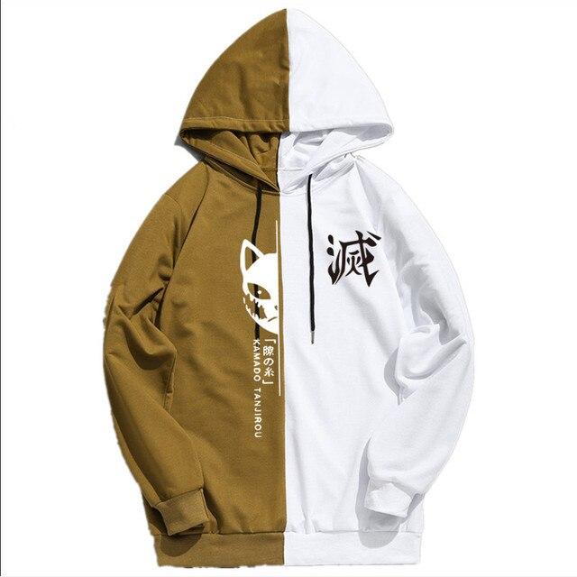 Summer Anime Demon Slayer Men's Sportswear Hoodie Tanjiro Print Printing Double Color Hoodies Sweatshirt Harajuku Thin Clothing 4