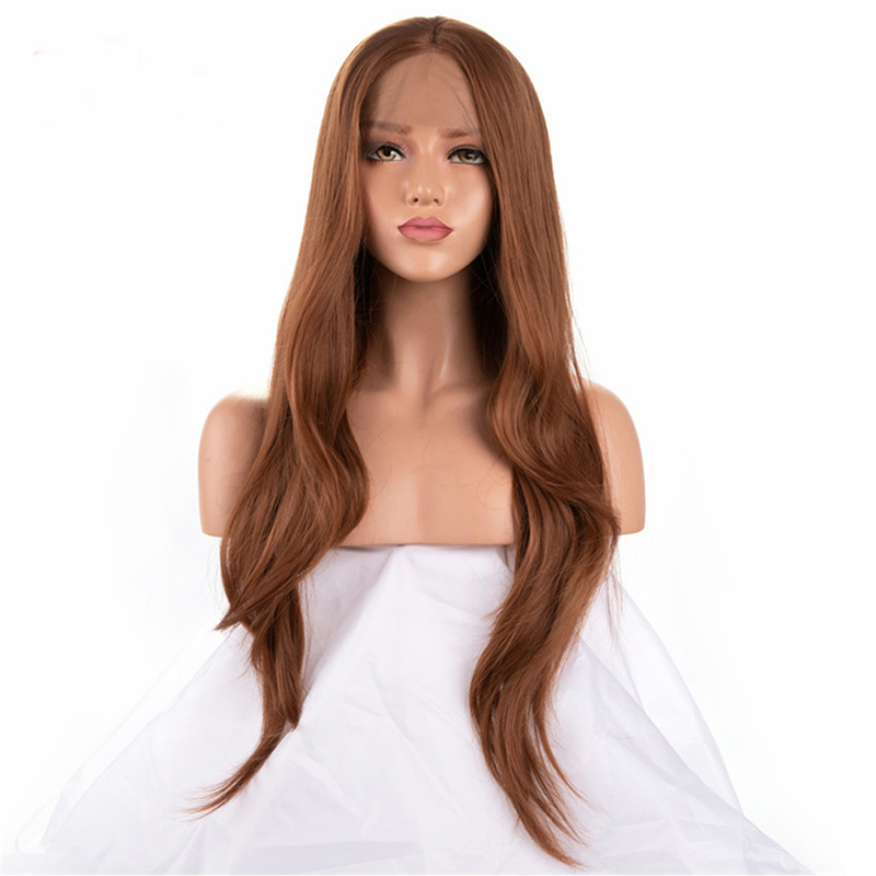glueless cabelo marrom onda natural longa perucas