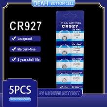 5 pçs/lote nova bateria de lítio cr927 3 v dl927 br927 kcr927 cr 927 botão baterias de pilha para brinquedos relógio computador controle calculadora