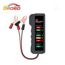 BM310 Auto Batterie Tester 12v Auto Checker Lichtmaschine Digitale Tester 6 Led leuchten für Auto Fahrzeug Motorrad Diagnose Tool