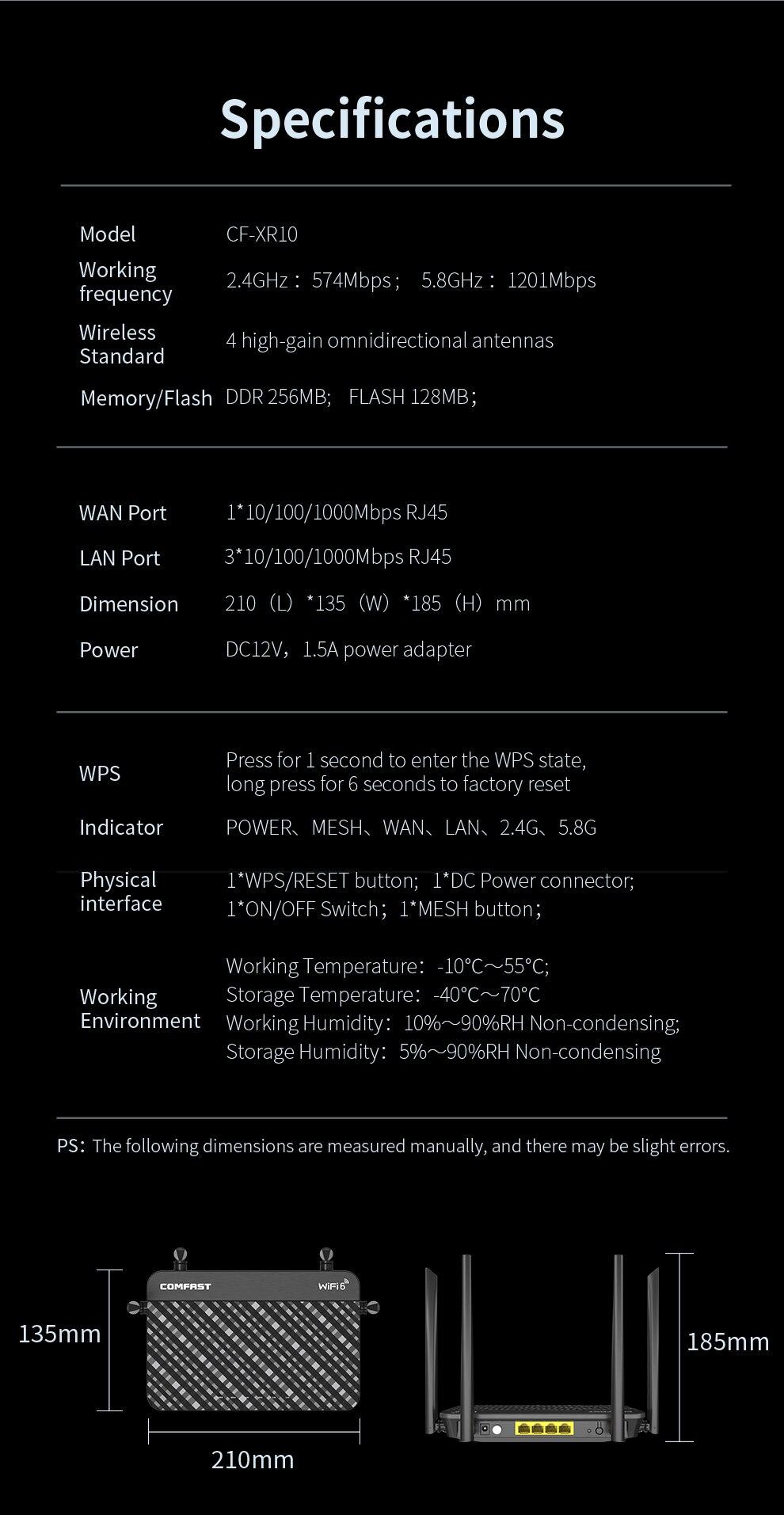 fio wifi repetidor 4 antenas de ganho alto wi-fi