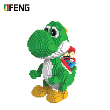 Magic Blocks Big size Yoshi Mini Micro Bricks Anime DIY Building Cartoon Toys Juguetes Auction Model toy Children Gifts