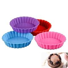 Formy silikonowe Muffin ciasto owocowe jajko tarty babeczka narzędzie pieczenia pieczenia dla majsterkowiczów losowo kolorowe ciasto dekorowanie narzędzia Cocina Home