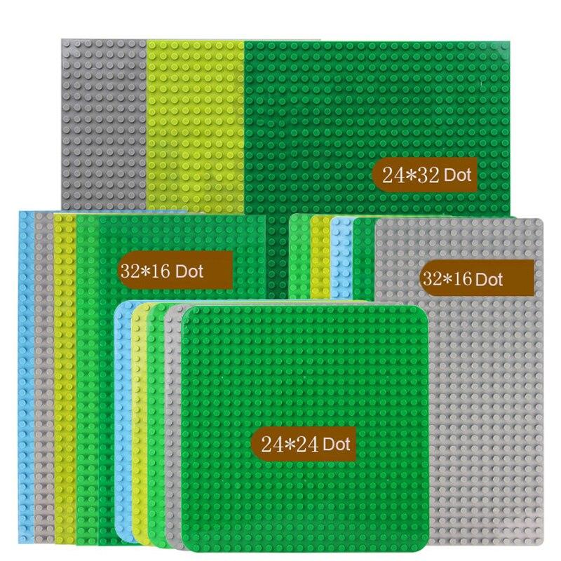 Базовая пластина Duploe из больших частиц, 404/512/576 точек, однотонная цветная большая Базовая пластина, строительные блоки «сделай сам», фигурки ...