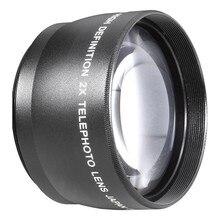 Téléconvertisseur d'objectif 55mm 2X, pour Canon, Nikon, Sony, Pentax, 18-55mm