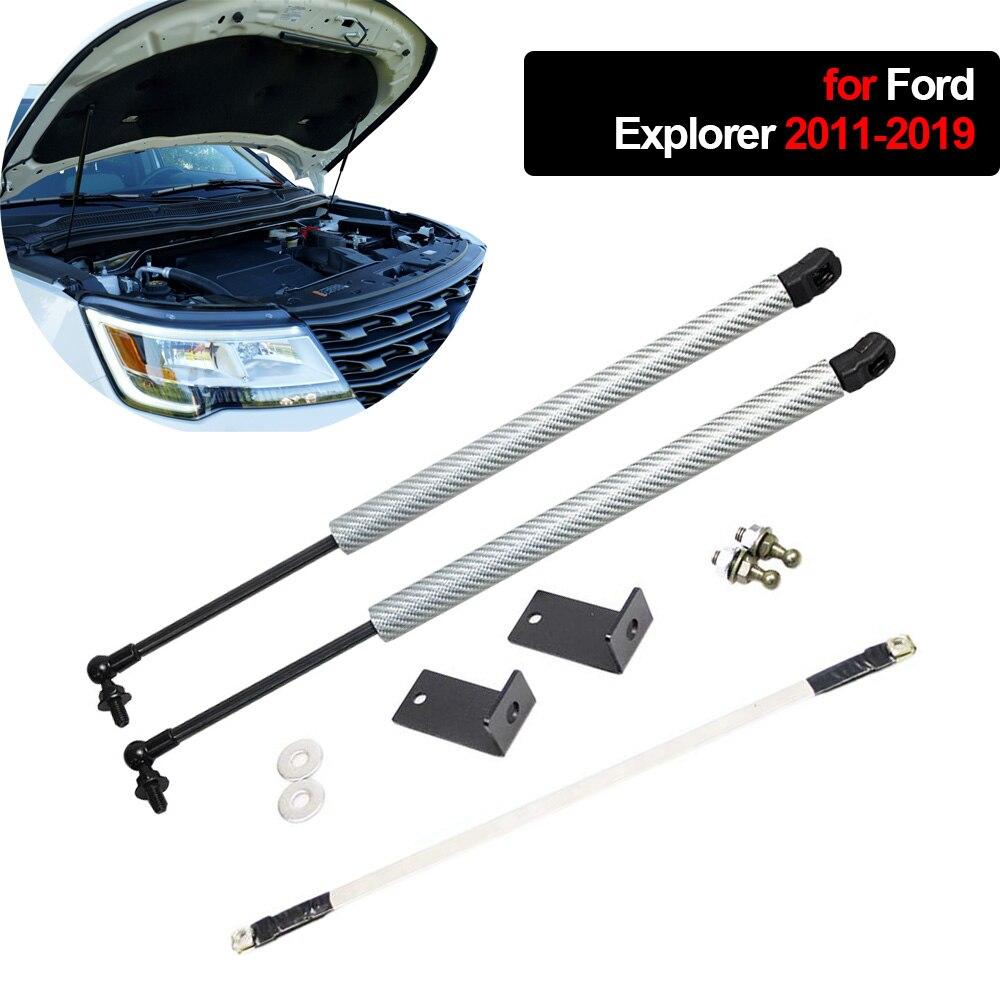 Demper Voor Ford Explorer 2011 2019 Motorkap Hood 2 Pcs Auto Carbon Fiber Wijzigen Gasveren Lift Ondersteuning schokdemper-in Stabilistatiestangen van Auto´s & Motoren op title=