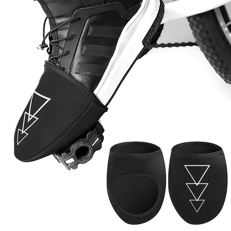 1 Pair Outdoor Cycling Shoes Covers Road Winter Warm Windproof Half Palm Toe Bicycle Protector Waterproof Bike Shoes Cover