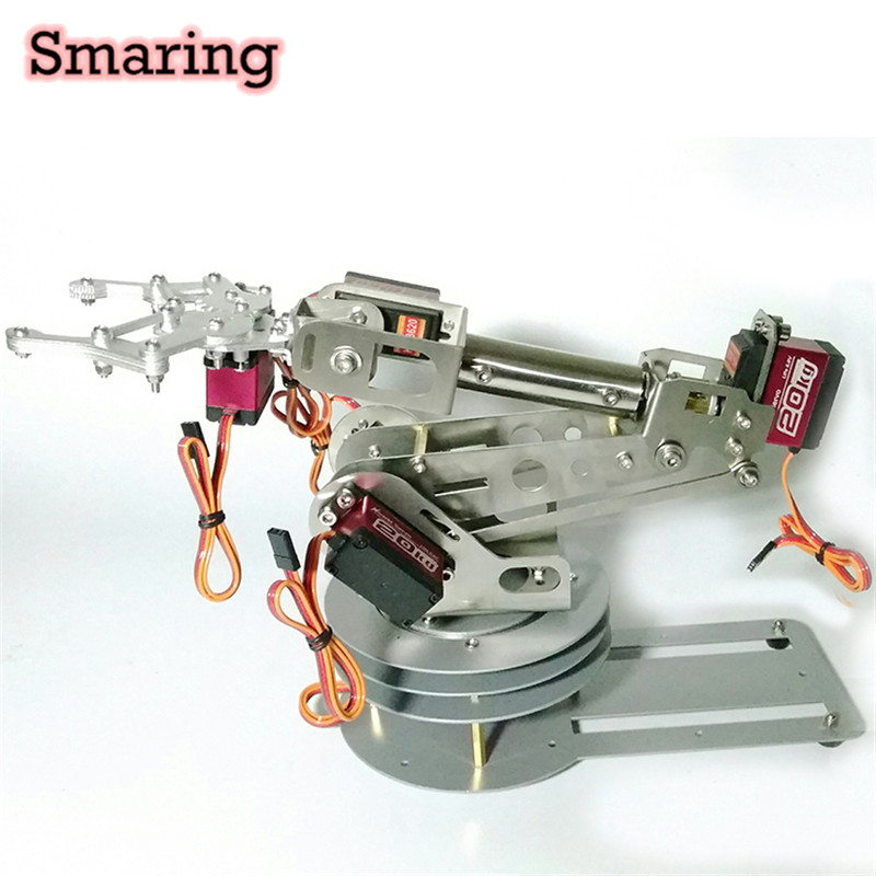 6DOF Mechanical Robotic Arm  Stable And Safety DIY Robot Arm Without/With Servos Mg996R