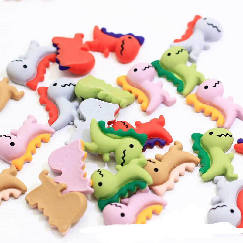 Mixed Resin Cute Dragon Cartoon Dinosaur Charms For Hair Pin Brooch Decoration Slime  Charm Jewelry