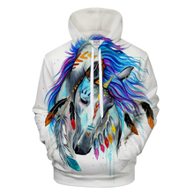 cold Art 3D Animal Hoodies horse Pritned Sweatshirts Men Tracksuits Brand Drop Ship Hooded Pullover