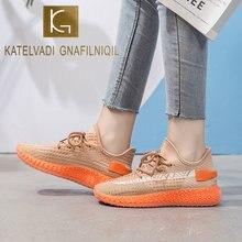 Кроссовки katelvadi женские дышащие повседневная обувь на плоской