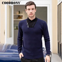 COODRONY Brand Turtleneck Men Fashion Casual Pull Homme Autumn Winter Thick Warm Sweater Men Zipper Knitwear Jersey Hombre C1025