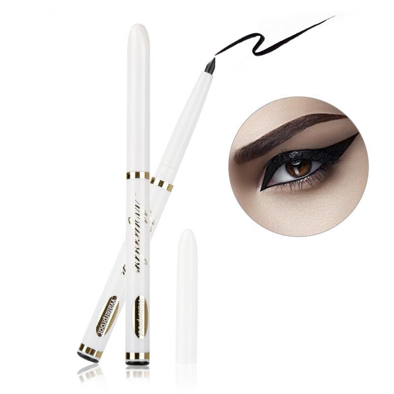 Klasyczny Czarny Eyeliner Teleskopowy Wodoodporny Trwały Automatycznie Obracać Ołówek Do Brwi Eyeliner Przyrząd Kosmetyczny Makijaż Lady TSLM1