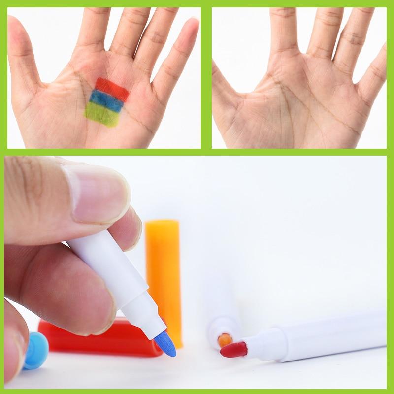 12 Pcs/set Different Colors Water-soluble Liquid Chalk Children's Drawing Pen Non-dust Board Chalk Marker Office School Supplies 5
