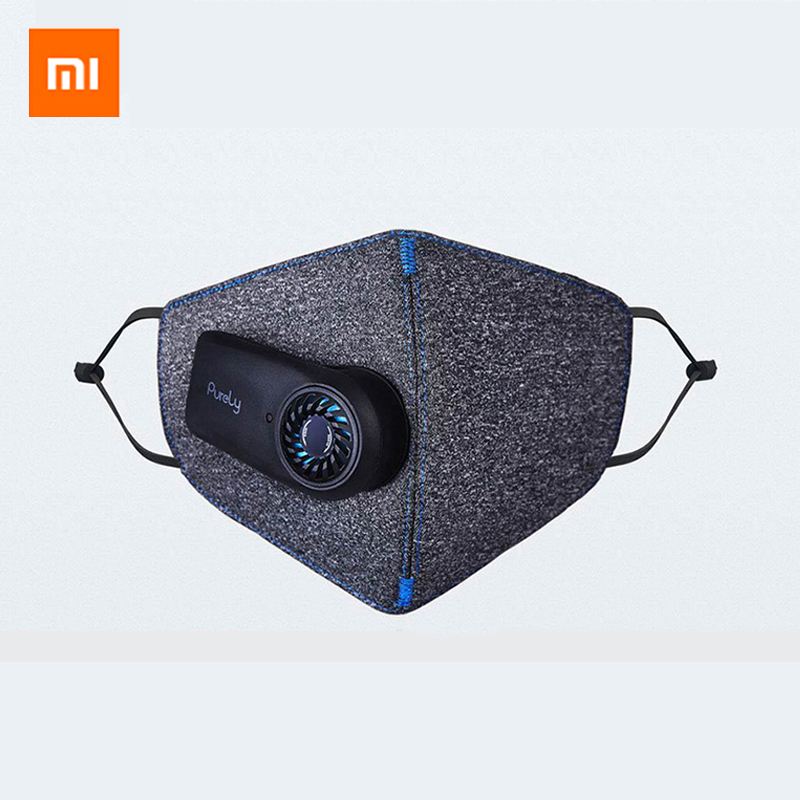 In Stock Xiaomi Purely Air Pollution Mouth Face Mask PM2.5 Filter Rechargeable Anti Dust Air Breathing Purifier Mask For Outdoor