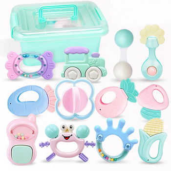 Baby Toys Hand Hold Jingle Shaking Bell Hand Shake Bell Ring Baby Rattles Toys Newborn Baby 0- 12 Months Teether Toys недорого