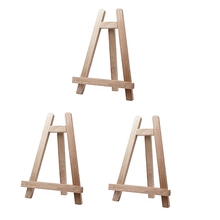 Natural Wood Mini Easel Frame Tripod Display Meeting Wedding Table Number Name Card Stand Display Holder Painting Craft