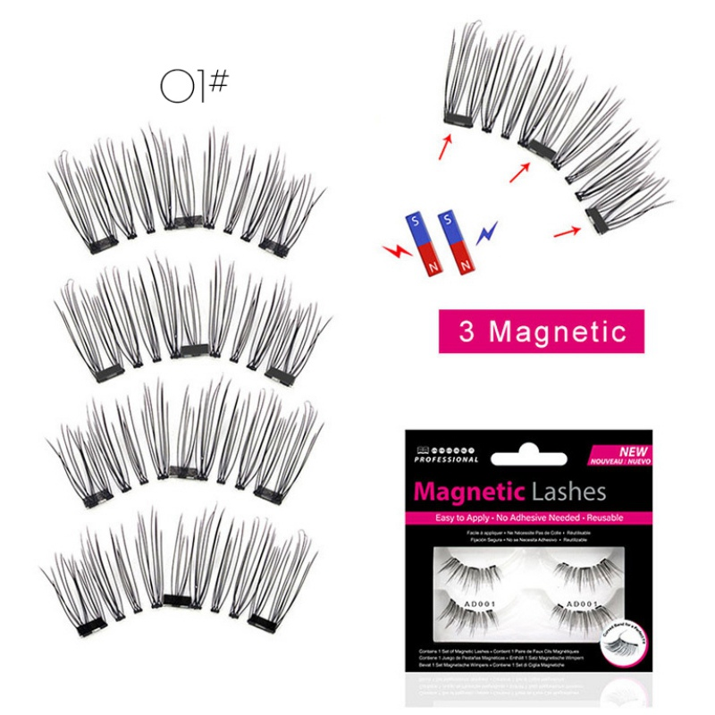 Natural Fake Lashes Magnetic Eyelashes Without Glue New Magnetic False Eyelash Lightweight