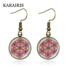 Karairis новые буддийские серьги с изображением мандалы для