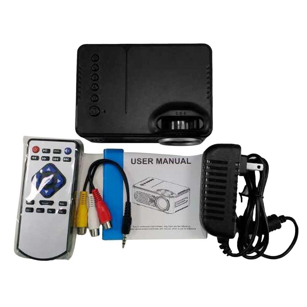 Портативный размер для домашнего использования HD 1080P светодиодный портативный мини-проектор мультимедийный домашний кинотеатр игровой ки...