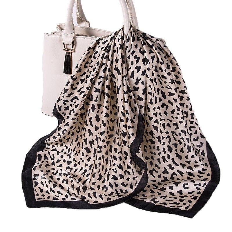 Женский шелковый шарф, маленькие квадратные шелковые шарфы, шейный платок, атласный платок для девочек, полосатые шарфы с принтом в горошек,...