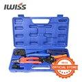 IWISS KIT-2546S щипцы для обжима на солнечной батарее Набор инструментов с зачистки  резак  гаечные ключи и Плашки для обжима 2 5/4/6 мм2