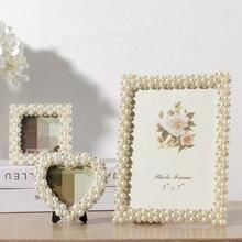 Cadre Photo de mariage romantique, multi-formes de bébés enfants, Cadre d'albums, sur Table, Rectangle avec cœur, 3/6/7/8 pouces