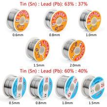 Areyourshop 100g 60/40 63/37 0.5mm / 0.8mm / 1.0mm / 1.5mm rosin tin chumbo solda fio com fluxo de 2% para solda