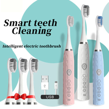 Electric-Toothbrush Sonic Rechargeable Whitening Waterproof 5-Modes Powerful