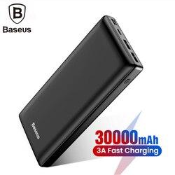 Baseus grande capacidade 30000mah power bank para o telefone móvel powerbank carga rápida 3.0 tipo c carregador de telefone para iphone samsung