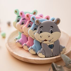 Image 5 - 10pc Baby Silicone Teether Rodent Silicone animal Fox Pacifier teeth Pendant BPA Free Silicone Beads Chew Biter Children Goods