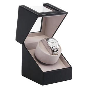 Wristwatch Winder-Case Mechanical-Rotation Automatic Shaker Motor Display-Box Transparent-Cover